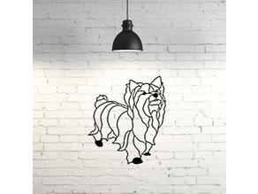 Yorkie dog wall sculpture 2D