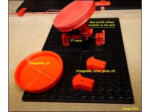 Trampoline rotor plate for Fischertechnik.