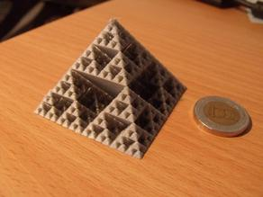 Sierpinski pyramide - without the need of support