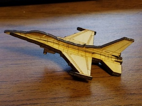 Lasercut F-16 Fighting Falcon