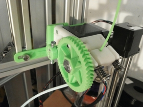 Adjustable Mount for Infill 3D's Bowden 75 Geared Extruder (+OpenScad File!)