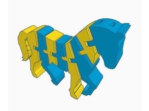 Flexi Horse/ Zebra ? Keychain