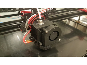 E3D V6 mount for Tronxy X5S with quick and easy printhead exchange system