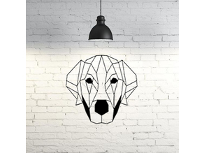 Labrador dog wall sculpture 2D