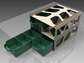 Economical modular drawer cabinet