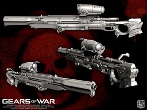 "Gears of war ""Longshot"" Sniper Rifle"