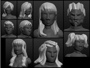 Sculptris OBJ Bits: Hairstyles