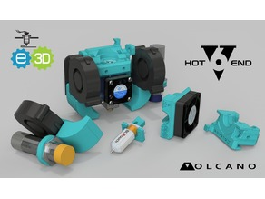 CR-10 Heavy Duty customisable modular e3D V6 mount Volcano 5015 ABL