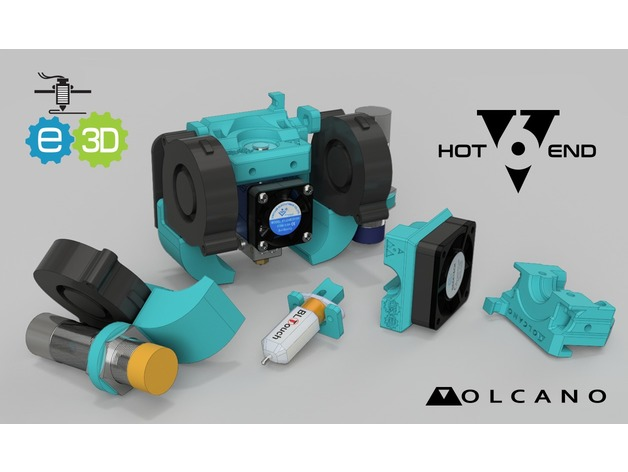 5c093e909299 CR-10 Heavy Duty customisable modular e3D V6 mount Volcano 5015 ABL ...
