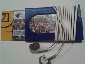 slim wallet & earbud holder