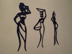 Mujeres africanas wall art 2D