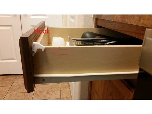 Magnetic Drawer Lock Child Safety By Davem80 Thingiverse