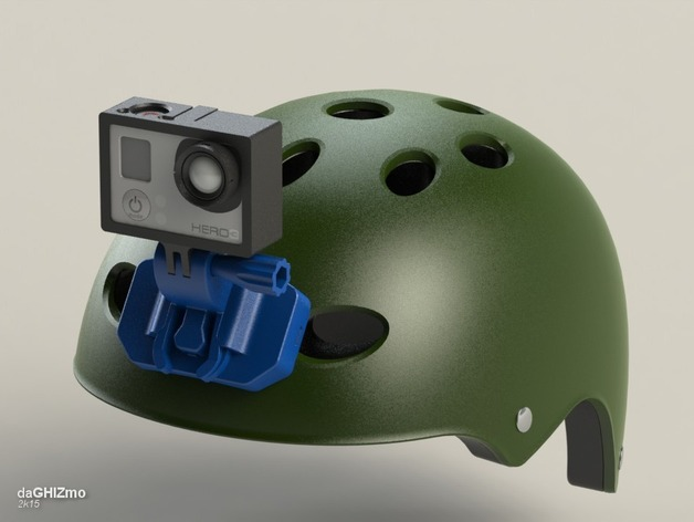 Gopro Helmet Front Mount By Daghizmo Thingiverse