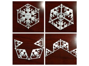 Invertable Snowflake with print-in-place hinges