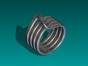 Continuous Coil Ring - Size 10