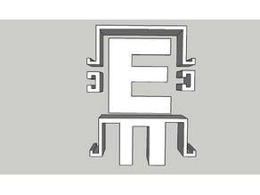 """Concrete mold for letter """"E"""""""