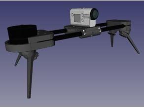Timelapse slider for action camera - V2