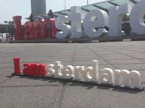 I Amsterdam sculpture