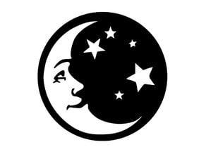 Man In The Moon Fridge Magnet