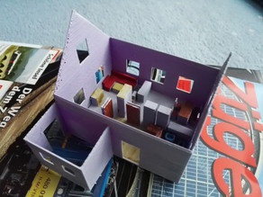 Simple House for Model Railway Layouts, H0 scale