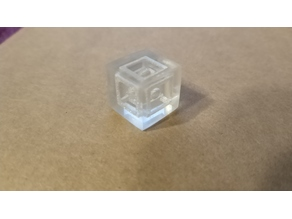 Transparent 3D Print Test - Sphere in a Cage