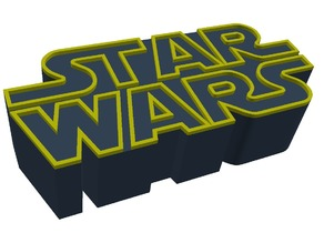 Star Wars logo. 2 piece colour