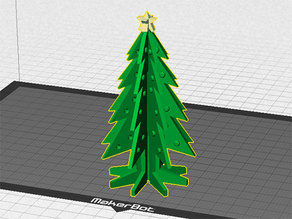 Christmas Tree - Your own personal mini 3D printed Christmas tree with coloured decorations!