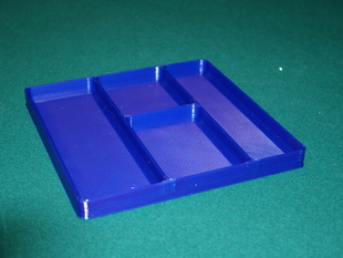 Storage Tray with Four Compartments