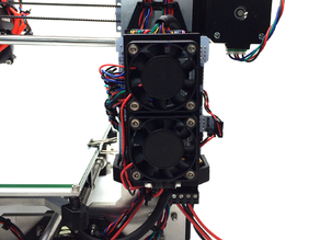 Prusa i3 RAMPS 1.4 Board & Fan Mount / Holder