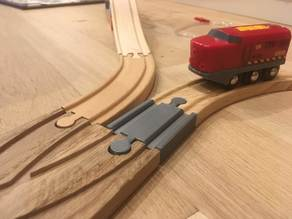 Wooden train track : Mini straight track Male Male (Brio / Ikea ...)