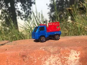 Matchbox Subaru Sambar Fire Truck Back