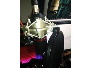 Pop-filter on Shock-mount mount