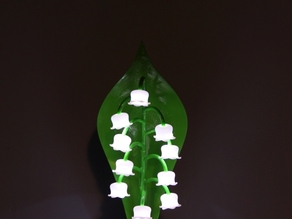 Lily of the valley lamp