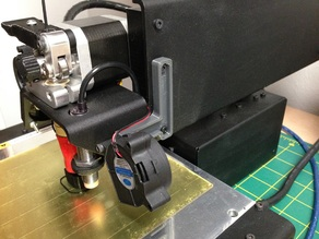 Printrbot Simple Metal - 2nd fan mount (for blower style fan)