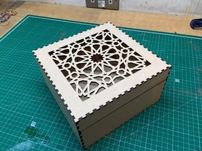 Moorish/Islamic/Muslim Laser Cut Box
