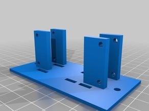 "Raspberry Pi Zero Rack Mount Adapter for Standard 19"" 2U"