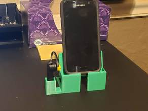 Samsung Note 9 or Galaxy S Phone Dock with Earbud Holder