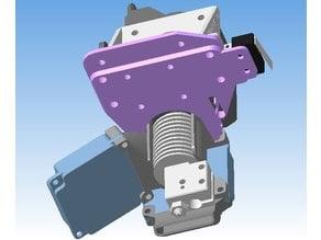 E3D V6 Volcano 4010 blower fan holder & Carriage for H-Bot
