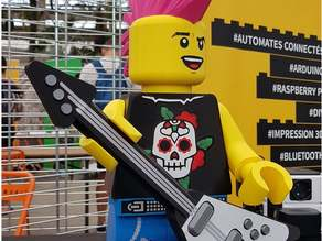 Electric guitar for Ponko giant Lego