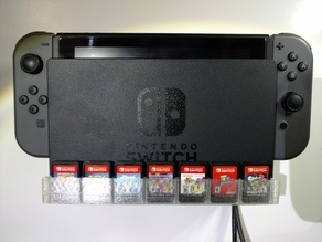 Nintendo Switch Wall Mount with Game Cartridge Storage