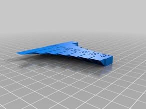 My Customized Overhang Test Print ()