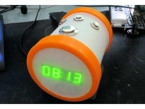 Tubular Alarm-Clock with Speaker
