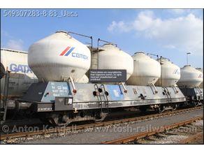 Cement train car - H0 scale (1:87)