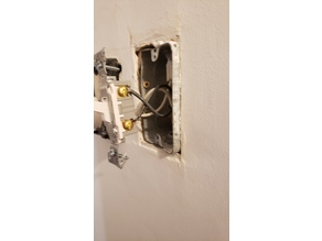 +10mm spacer plate for badly installed electrical boxes