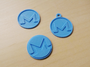 Monero coin & keyring