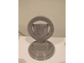 Angular Trophy (Customizable)