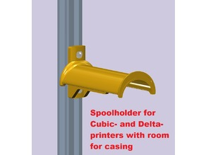 Spoolholder for Cubic- and Delta-printers with room for casing