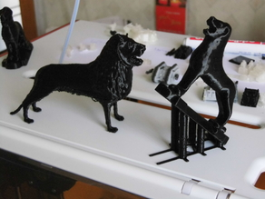 A jig for printing the Brunswick Lion