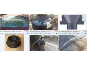 Pool filter plug to garden hose adapter