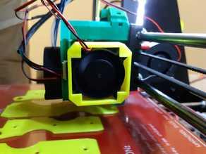 Simple stepper motor fan holder